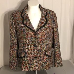 Sag Harbor Woman Knitted Blazer Jacket 20w. A0445